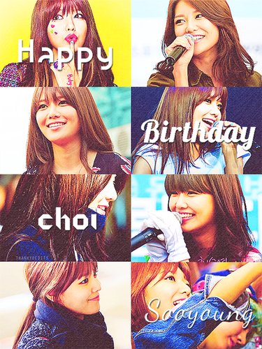 kpop 4ever wallpaper entitled Happy Birthday Sooyoung!<3