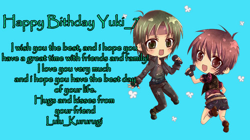 Happy Birthday Yuki_7!!!