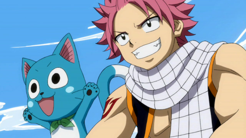 Fairy Tail wallpaper containing anime called Happy and Natsu