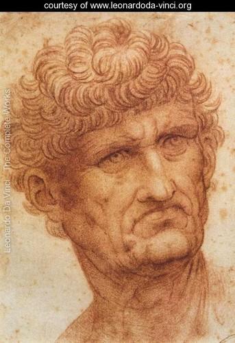 Head of a Man par Leonardo Da Vinci