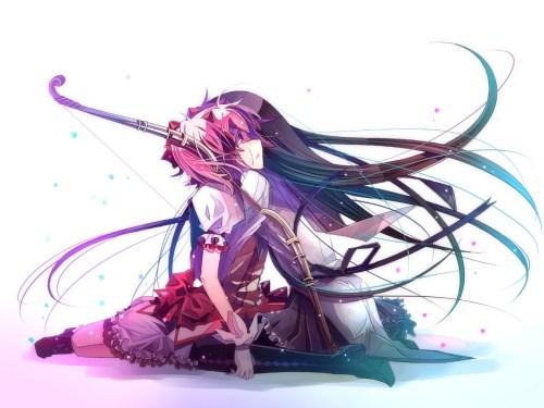 Mahou Shoujo Madoka Magica hình nền entitled Homura and Madoka