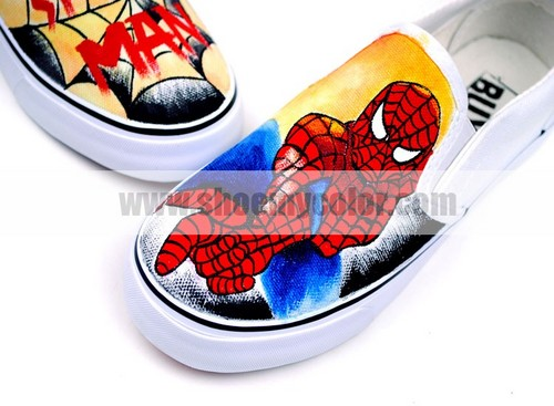 How about the newest Spider-Man slip on shoes?