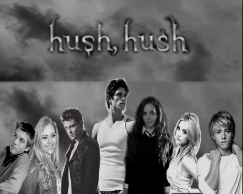 Hush, Hush 바탕화면 possibly containing a sign, a concert, and a portrait called Hush Hush Fan-made 바탕화면