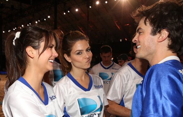and NIna Calebrity Beach Bowl 2013 - Ian Somerhalder and Nina Dobrev ...
