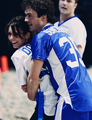 Ian and Nina Celebrity Beach Bowl 2013 - ian-somerhalder-and-nina-dobrev fan art