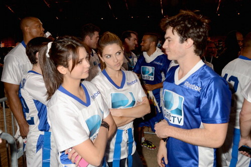 Ian and Nina Celebrity Beach Bowl 2013