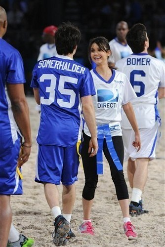 Ian and Nina Celebrity spiaggia Bowl 2013