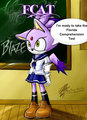 If Blaze can be confident for the test you can be too - blaze-the-cat fan art