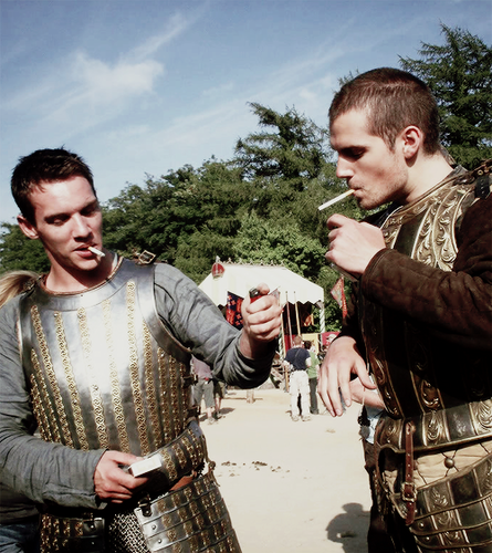 JRM & Henry Cavill on set