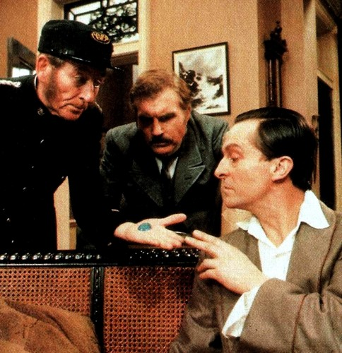 Sherlock Holmes দেওয়ালপত্র possibly containing a business suit entitled Jeremy Brett