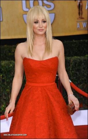 Kaley @ Screen Actors Guild Awards photos