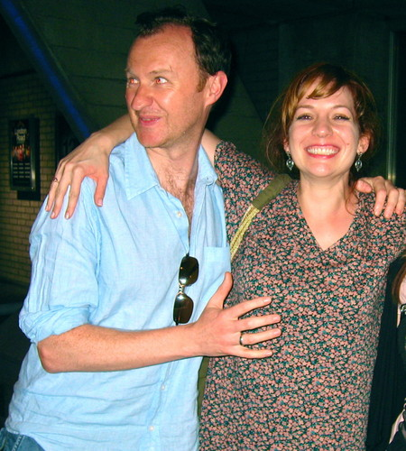 캐서린 파킨슨 바탕화면 probably containing a well dressed person, long trousers, and a leisure wear titled Katherine Parkinson & Mark Gatiss