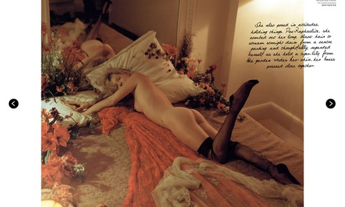 Kate Moss wallpaper probably with a bouquet and a living room entitled LOVE #9 S/S 2013