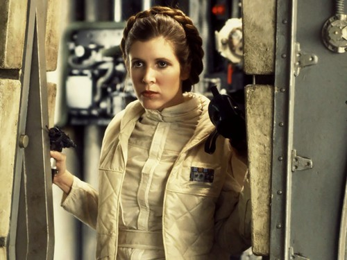 Princess Leia Organa Solo Skywalker wallpaper probably containing an outerwear, a box coat, and an overgarment titled Leia