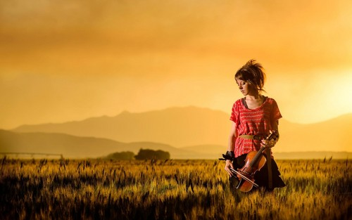 música fondo de pantalla possibly with a grainfield titled Lindsey Stirling
