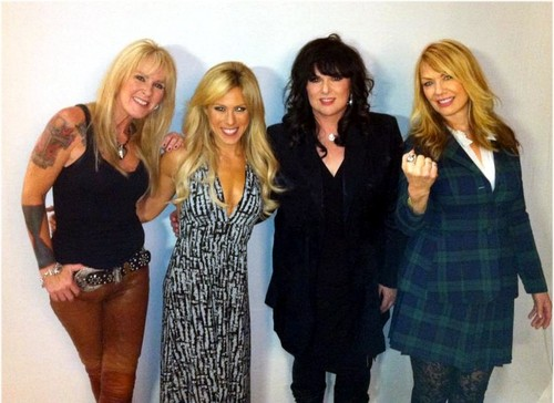Lita Ford with Ann and Nancy Wilson (Heart)