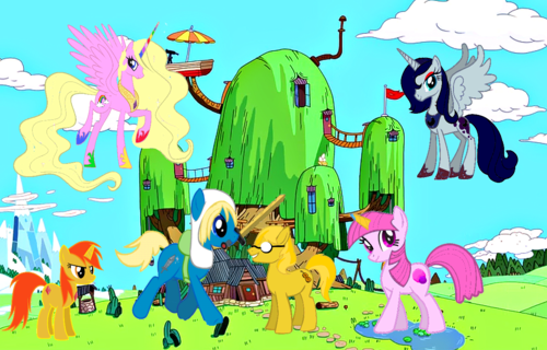 MLP: FM + Adventure Time - my-little-pony-friendship-is-magic Photo