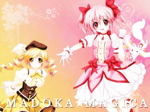 Mahou Shoujo Madoka Magica fondo de pantalla probably with a bouquet entitled Magica~Wallpaper