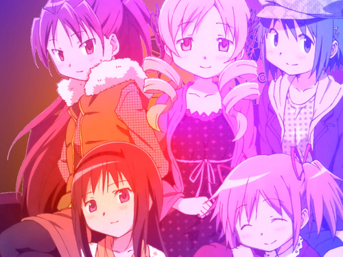 Puella Magi Madoka Magica karatasi la kupamba ukuta probably containing anime called Magica~Wallpaper