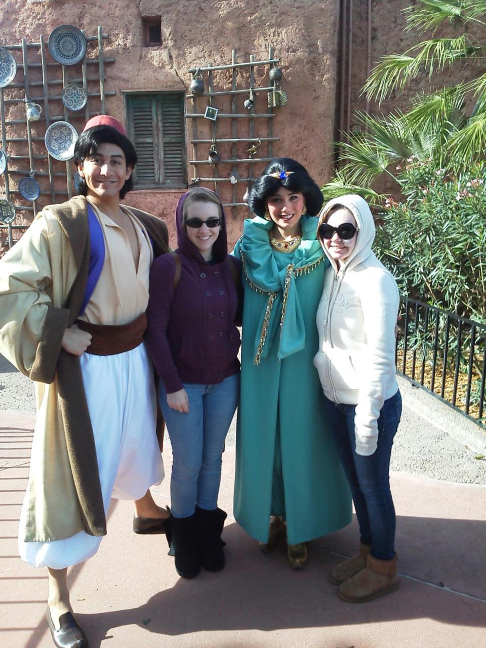 Meeting Aladdin and Jasmine at W.D.W!