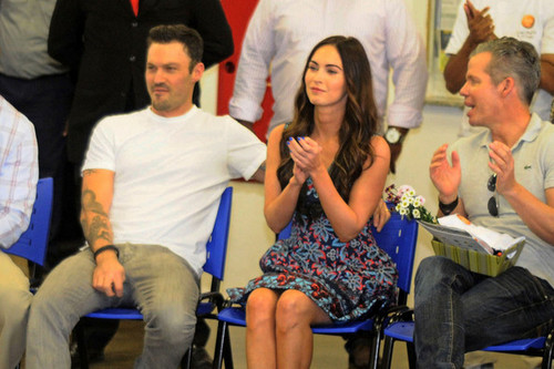 Megan vos, fox and Brian Austin Green in Brazil