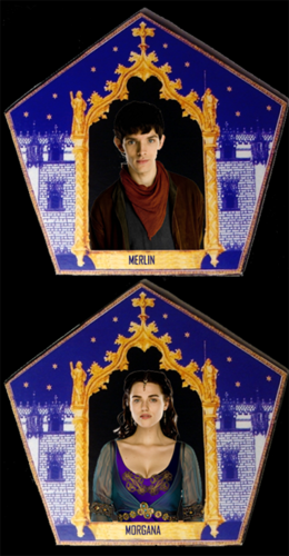Merlin & Morgana tsokolate Frog Cards