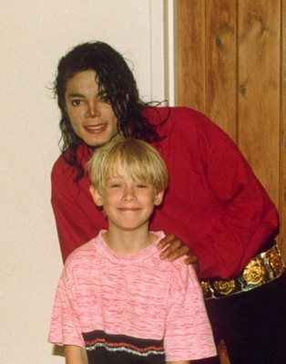 Michael And Godfather Of His Two Older Chidren, Macaulay Culkin