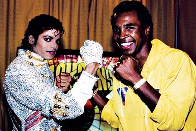 Michael And Legendary Fighter, Sugar 레이 Leonard