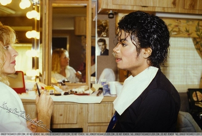 Michael In The Makeup Room