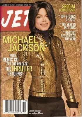 "Michael On The Cover Of 2007 Issue Of ""JET"" Magazine"