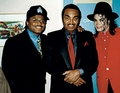 Michael Wit Younger Brother, Randy And Father, Joseph - michael-jackson photo