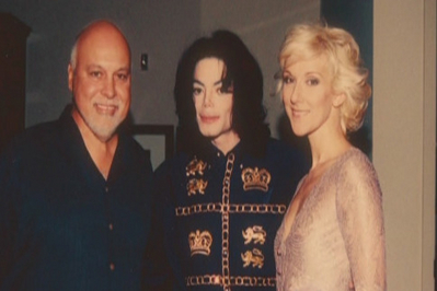Michael With Celine Dion And Husband/Manager, Rene Angelil
