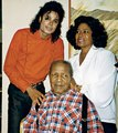 Michael With His Mother, Katherine And Maternal Grandfather - michael-jackson photo