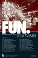 Most Nights Summer Tour Poster - fun-band photo