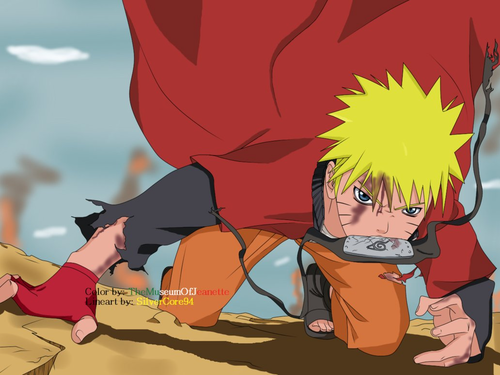 Uzumaki Naruto (Shippuuden) Hintergrund containing Anime entitled Naruto