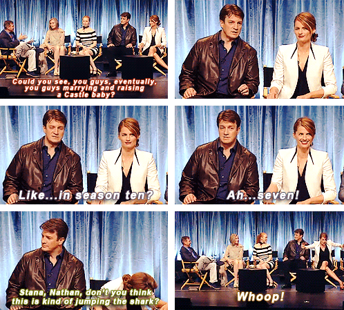Nathan Fillion & Stana Katic Hintergrund titled Nathan Fillion & Stana Katic