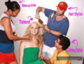 New BTS фото of Candice at her photoshoot with Starla Fortunato [2009]