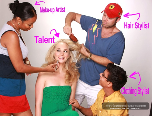 New बी टी एस चित्र of Candice at her photoshoot with Starla Fortunato [2009]