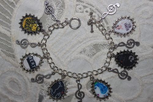 Pick Your Own Broadway Posters customized charm bracelet