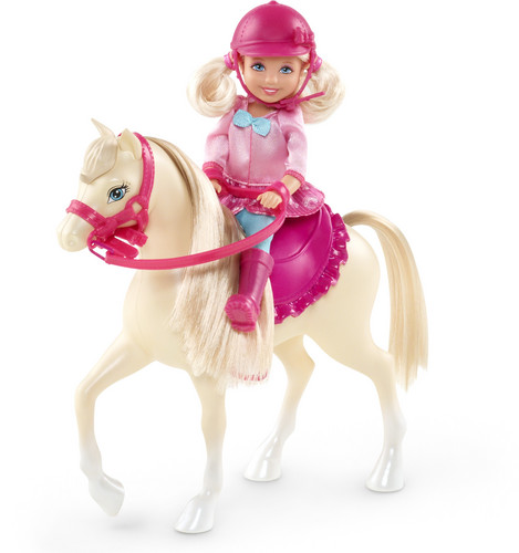 rosa, -de-rosa Boots and Ponytails barbie