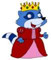 Princess Pinch Raccoon - pb-and-j-otter fan art