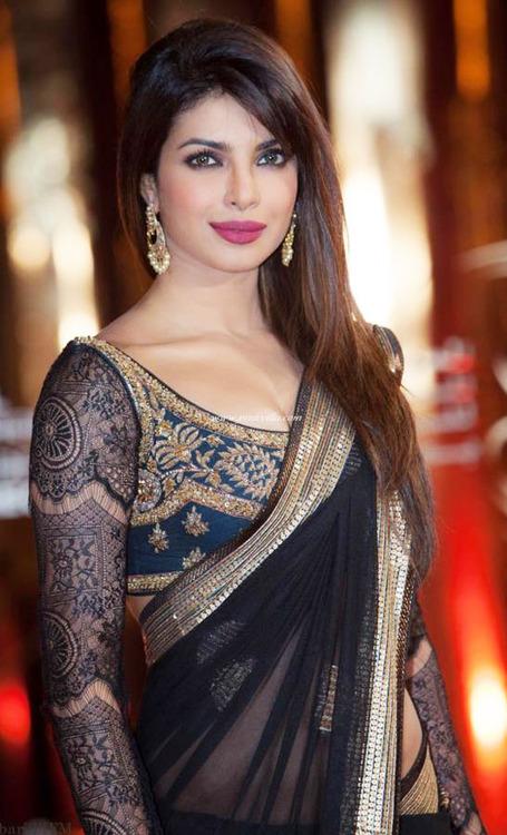 Priyanka Chopra In Pink Lace Designer Party Wear Sari Pictures To Pin
