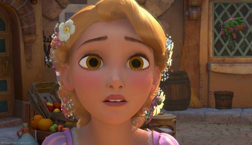 Rapunzel with brown eyes
