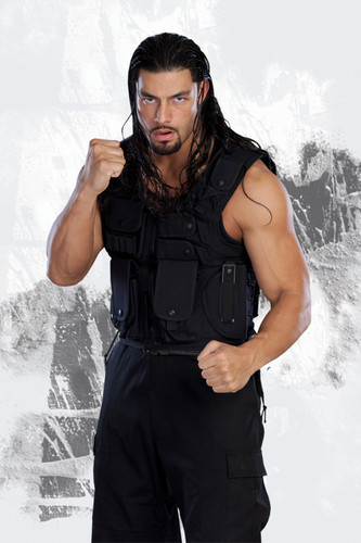 the shield (wwe) wallpaper probably with a green beret, fadigas, and fadiga called Roman Reigns