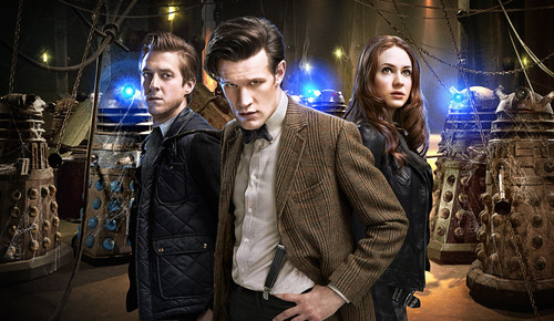 Rory, Amy, The Doctor and River चित्रो