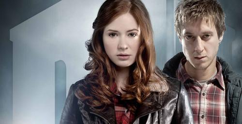 Rory, Amy, The Doctor and River các bức ảnh