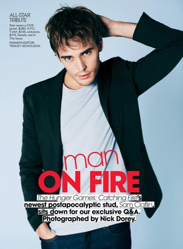 Sam Claflin-Teen Vogue Photoshoot