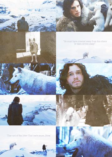 Jon Snow + Ghost