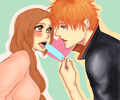 Say 'aahhh'.. by Rei-Ami - ichigo-and-orihime fan art