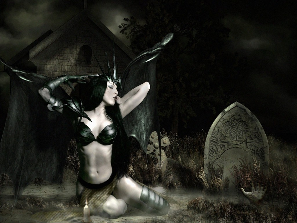sexy gothic fairy wallpaper - photo #17